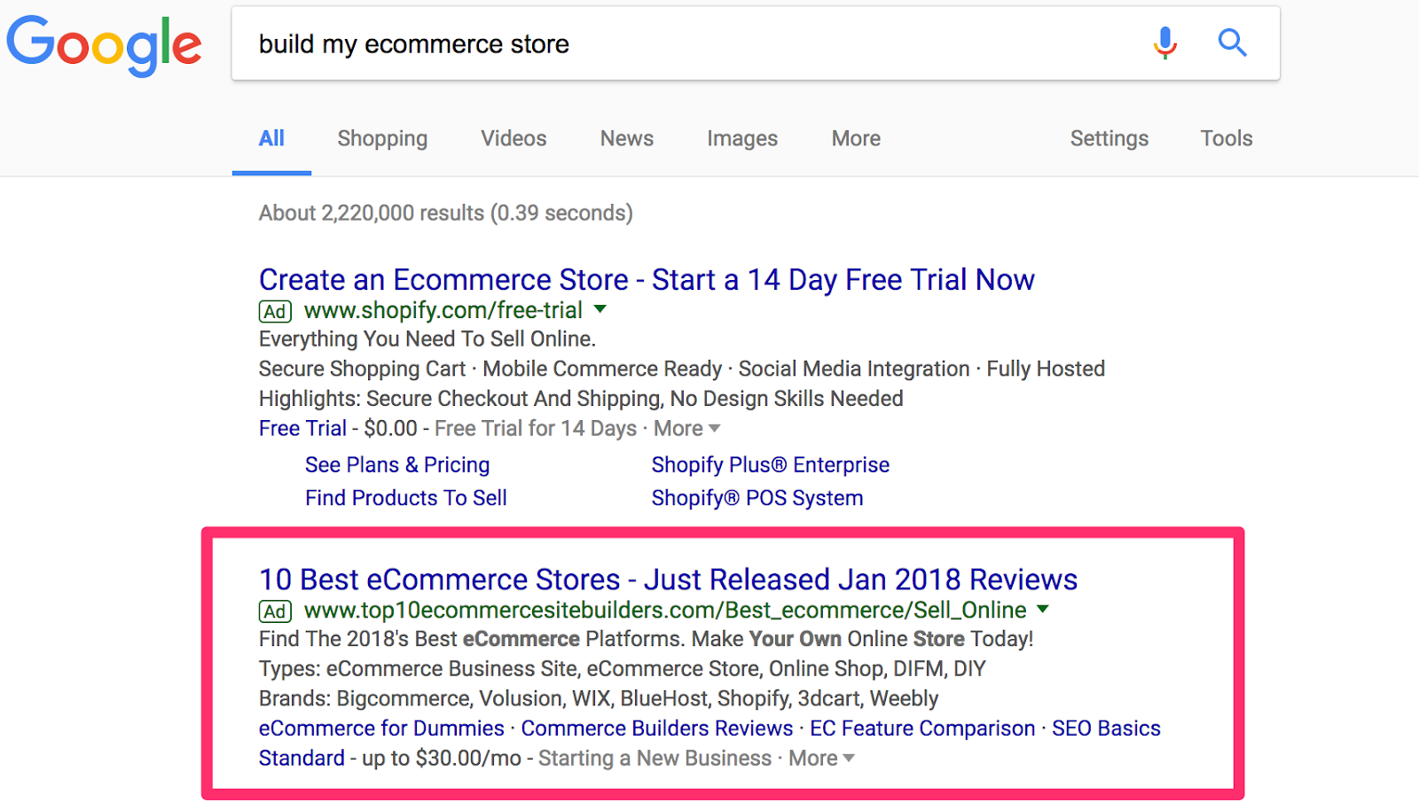 build my ecommerce store Google Search 1