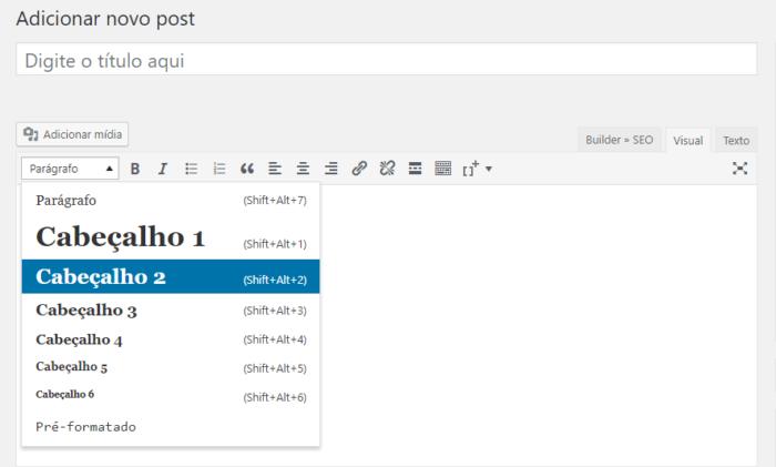 cabeçalhos wordpress